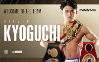 Undefeated WBA Super and Ring Magazine world champion Hiroto Kyoguchi signs multi-fight promotional deal with Matchroom eddie hearn boxrec next fight last tv channel debut watch highlights